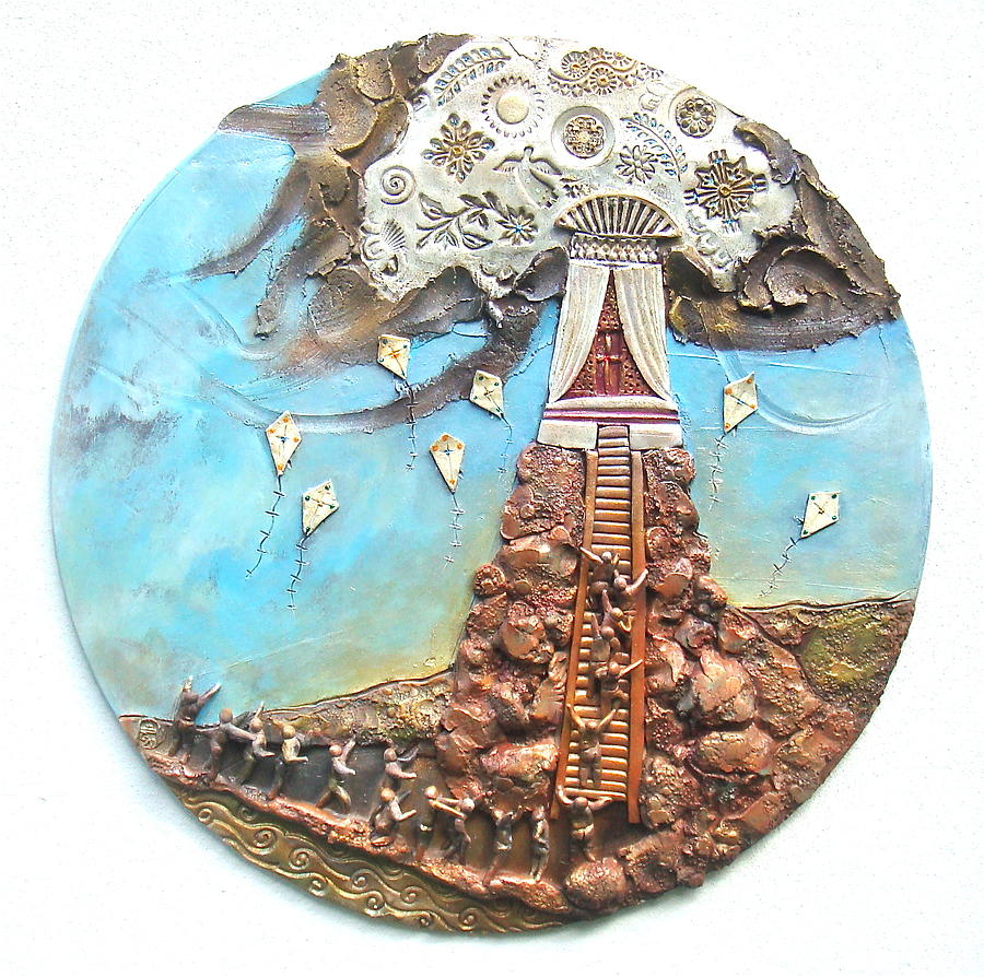 Religious Ceramic Art - The Ascent by Gary Wilson