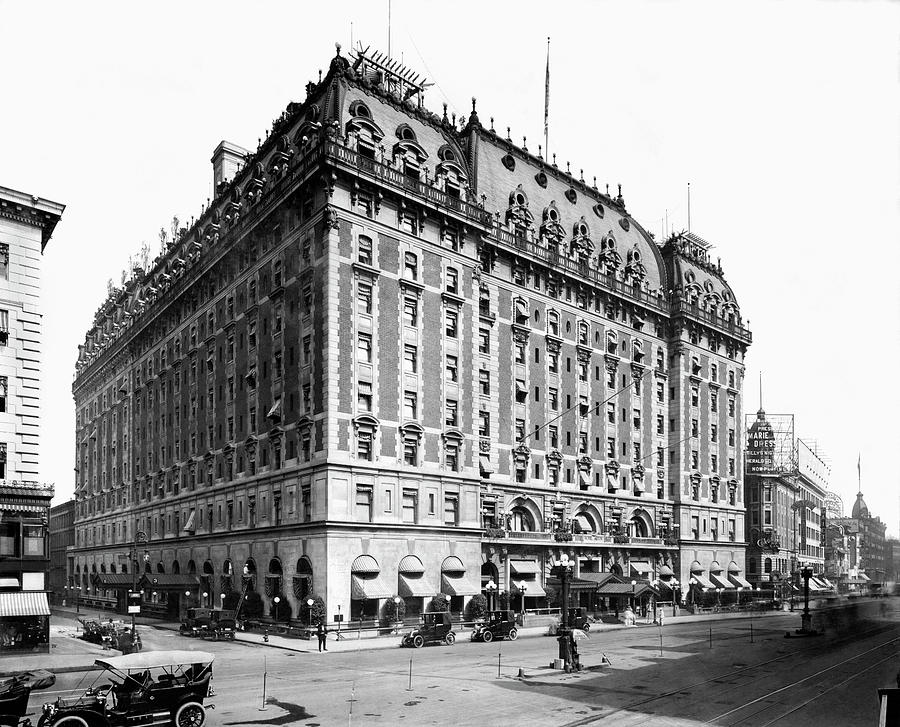 The Astor Hotel on Broadway by Underwood Archives
