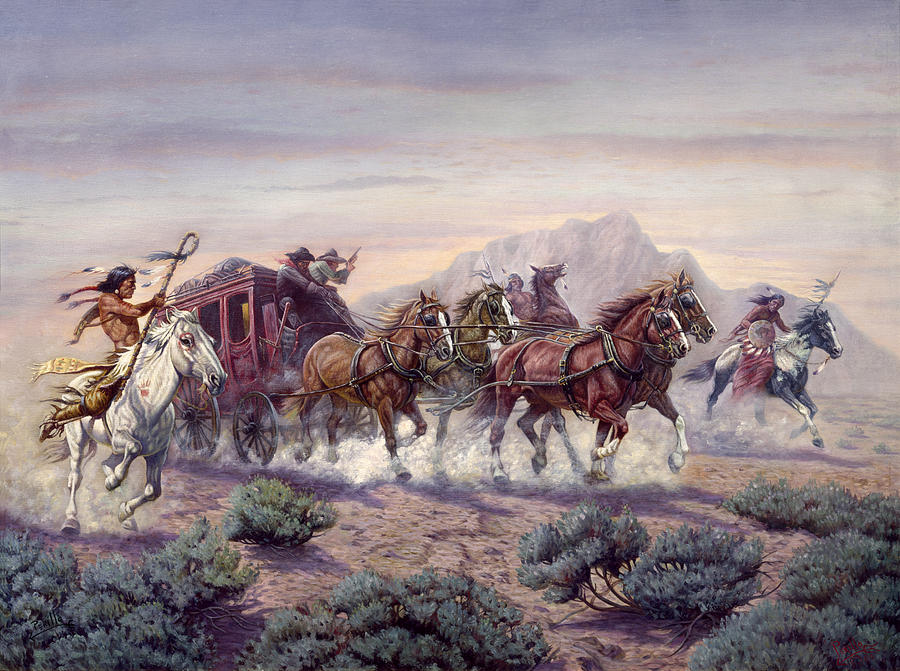 Gregory Perillo Painting - The Attack by Gregory Perillo