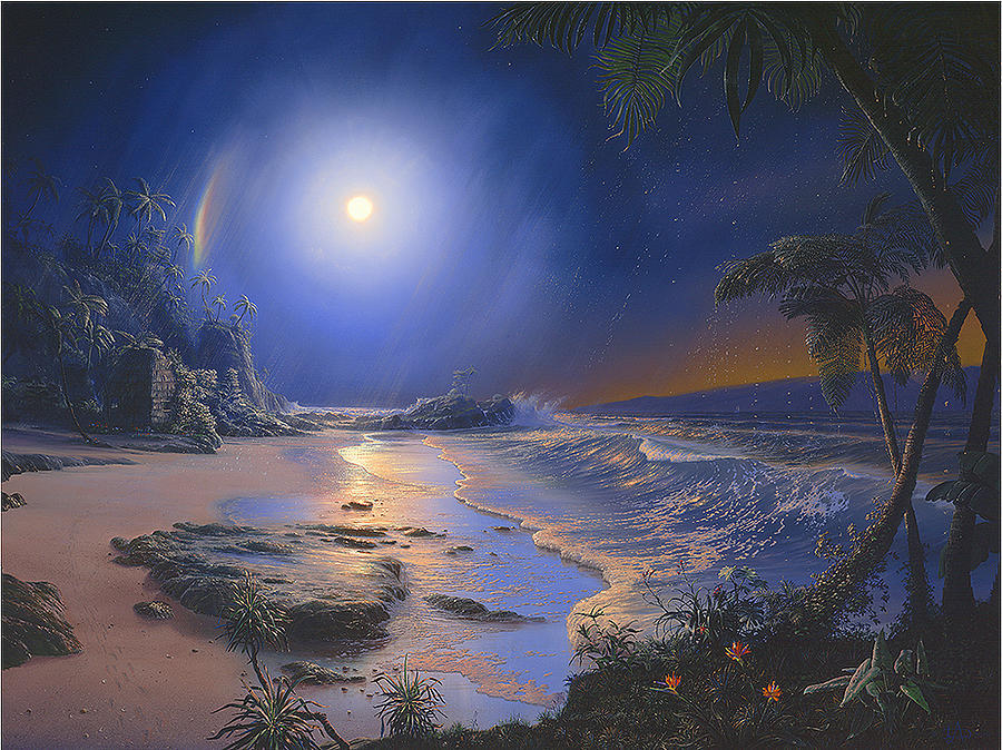 Hawaii Painting - The Augmented Sea by Loren Adams