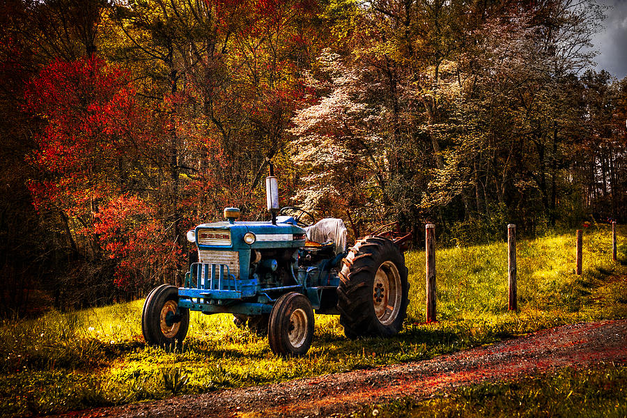 Appalachia Photograph - The Autumn Blues by Debra and Dave Vanderlaan