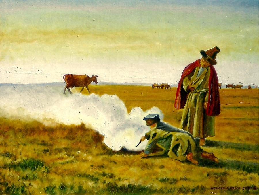 Gorecki Painting - The Autumn by Henryk Gorecki