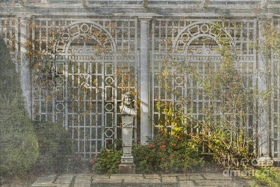 THe Autumn Italian Garden Photograph by Marilyn Cornwell