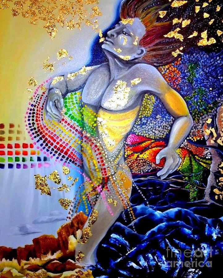 Religious Painting - The Awakening of Adam by Rhonda Falls