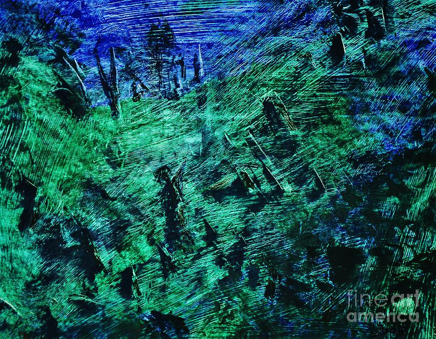 Abstract Painting - The Awakening by Reb Frost