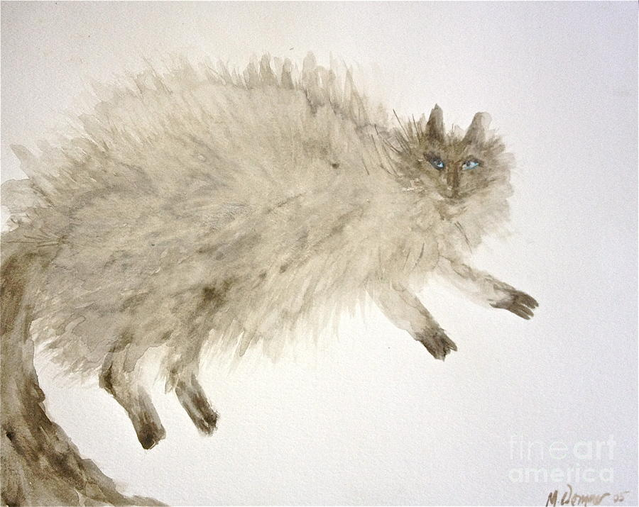 Cats Painting - The Baby by Michelle Dommer