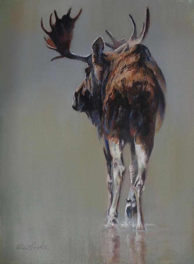 Moose Painting - The Bachelor by Mia DeLode