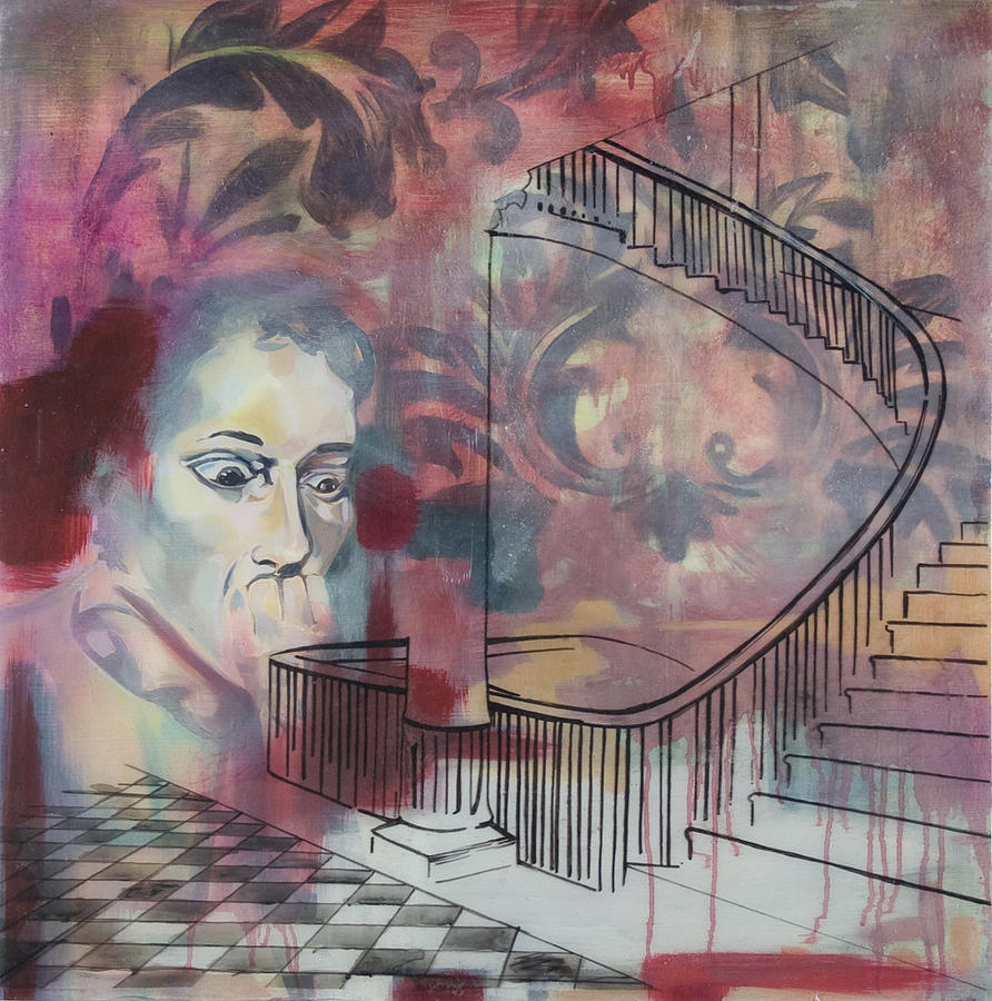 Stairs Painting - The Back Stairs by Stacey Sherman