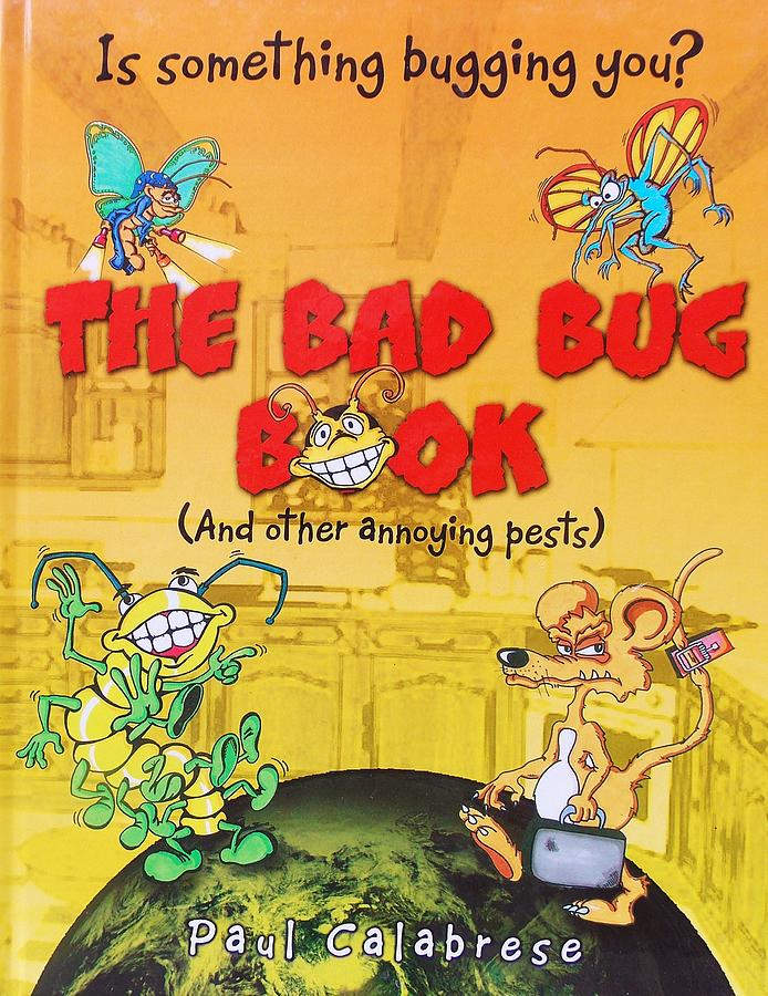 Book Drawing - The Bad Bug Book Cover by Paul Calabrese