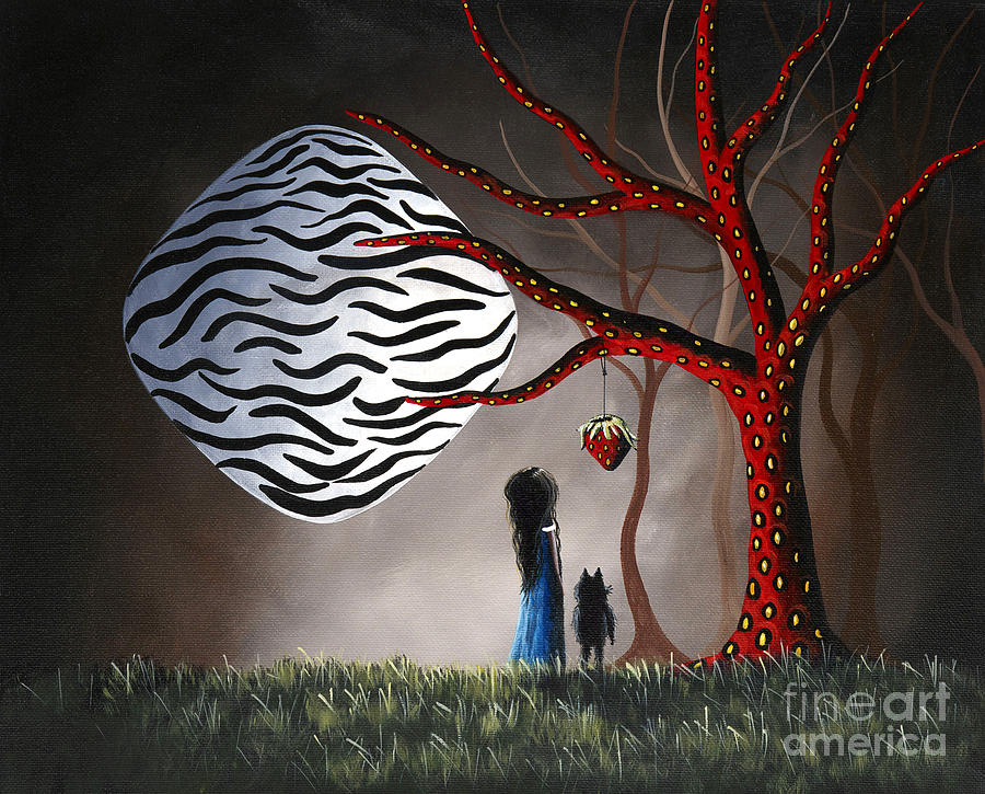 Moon Painting - The Bait By Shawna Erback by Erback Art