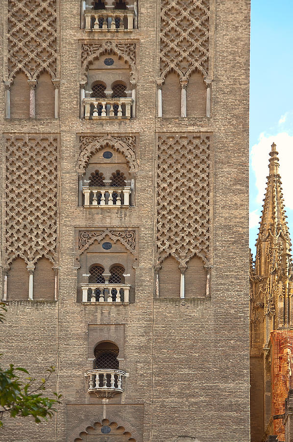 Seville Photograph - The Balconies Of Seville Cathedral Belfry by Viacheslav Savitskiy