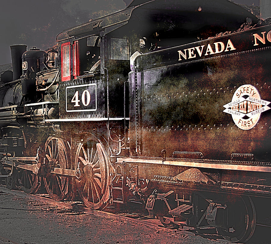 Train Photograph - The Baldwin by Gunter Nezhoda