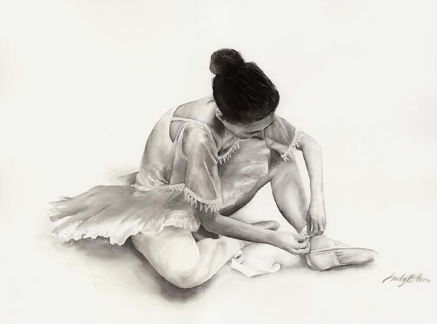 Dancer Painting - The Ballet Dancer by Hailey E Herrera