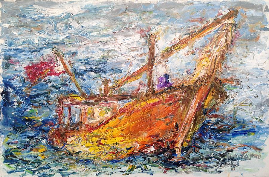Sea Painting - The Banoosh by Khalid Alzayani