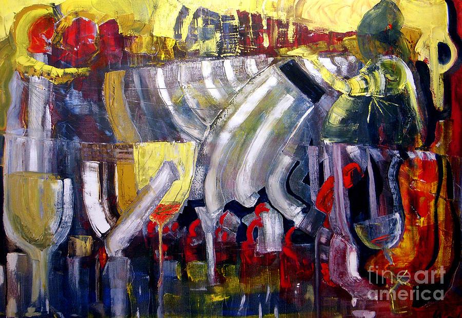 Bar Painting - The Bar Scene by James Lavott
