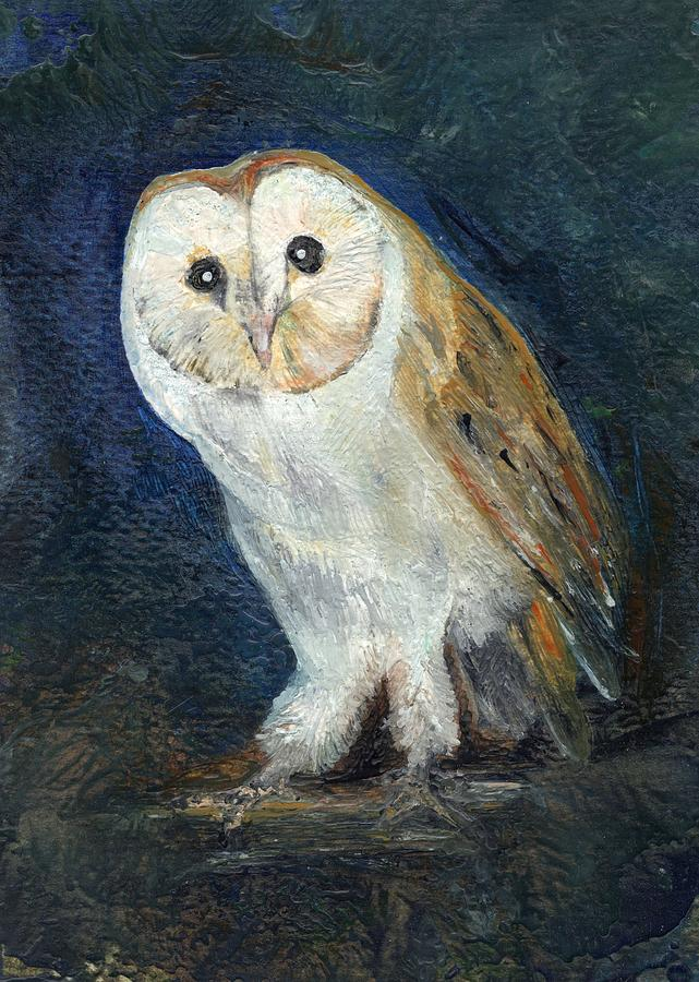 Owl Painting - The Barn Owl by Carol Rowland