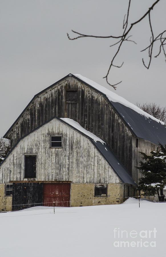 Barn Photograph - The Barn With A Red Door by Deborah Smolinske
