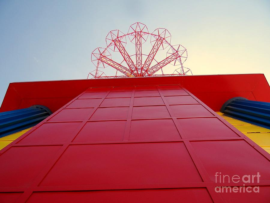 The Parachute Jump Photograph - The Base Of The Parachute Jump by Ed Weidman