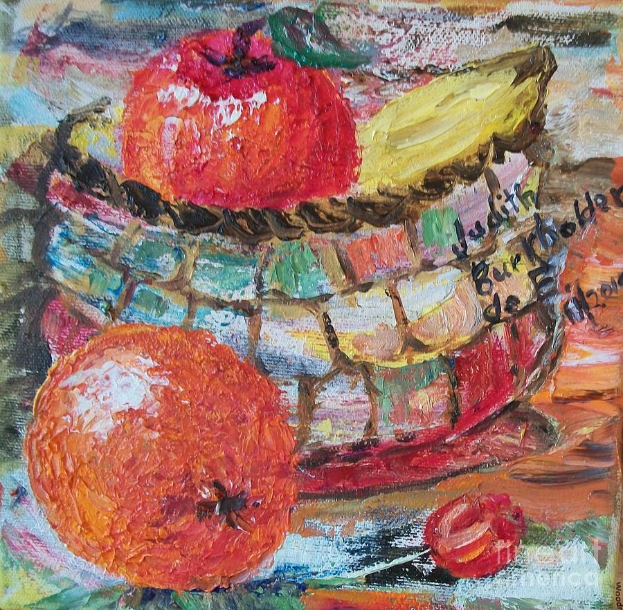 Basket Painting - The Basket - Sold by Judith Espinoza