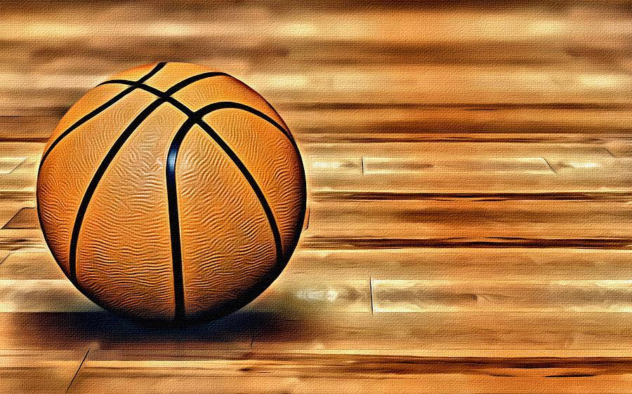 Nba Painting - The Basketball by Florian Rodarte