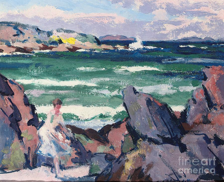 North Wind Painting - The Bather by Francis Campbell Boileau Cadell