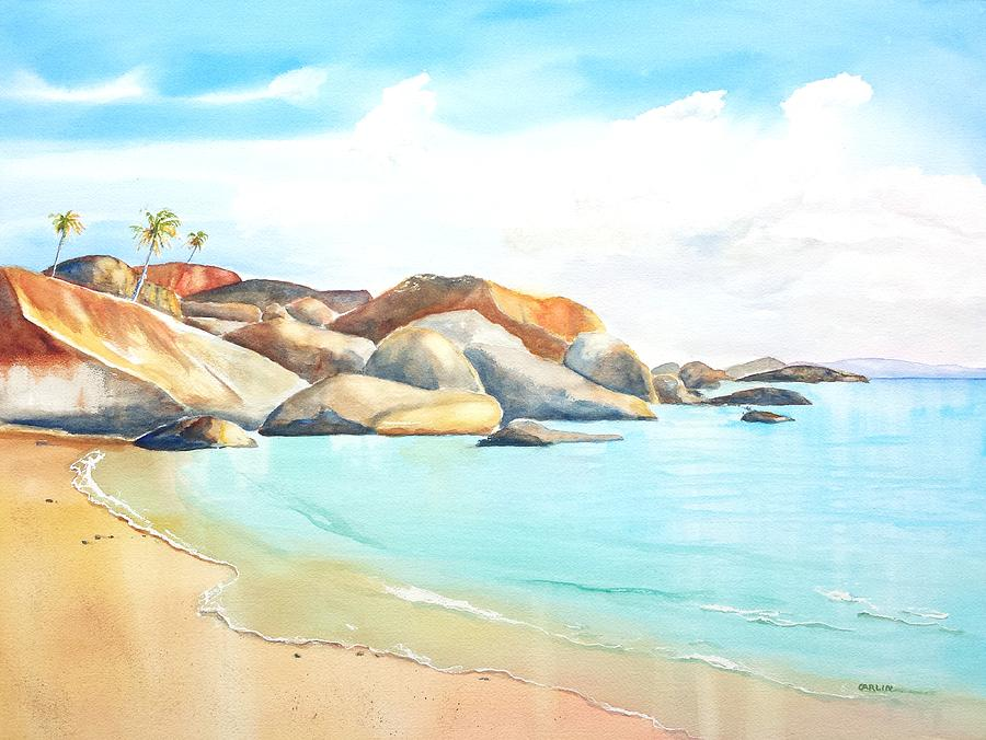 Beautiful Beach Paintings. Small Acrylic Landscape Painting Beach ...