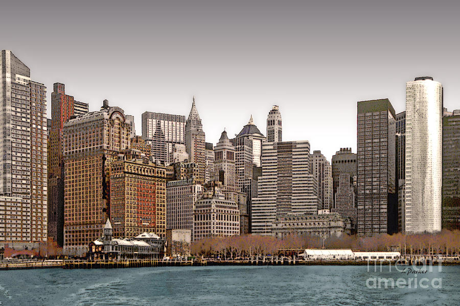 Abstract Photograph - The Battery New York City by Linda  Parker
