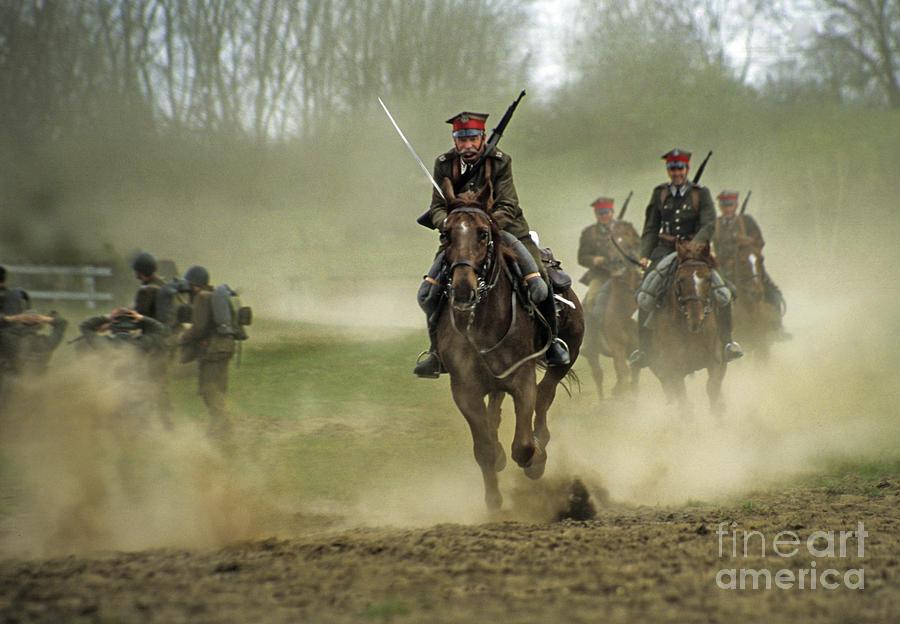 Cavalry Photograph - The Battle by Angel  Tarantella