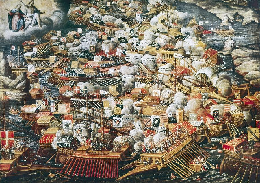 Horizontal Photograph - The Battle Of Lepanto, 7th October by Everett