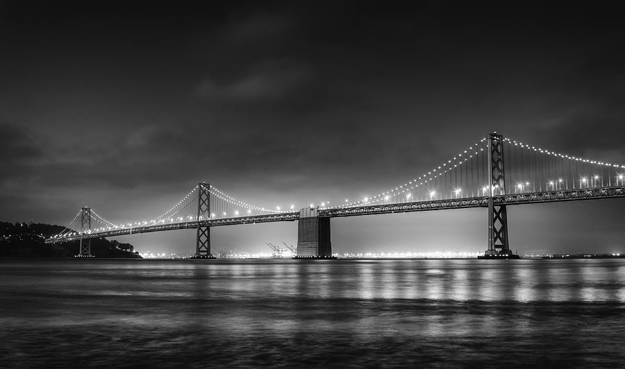 The Bay Bridge Monochrome Photograph