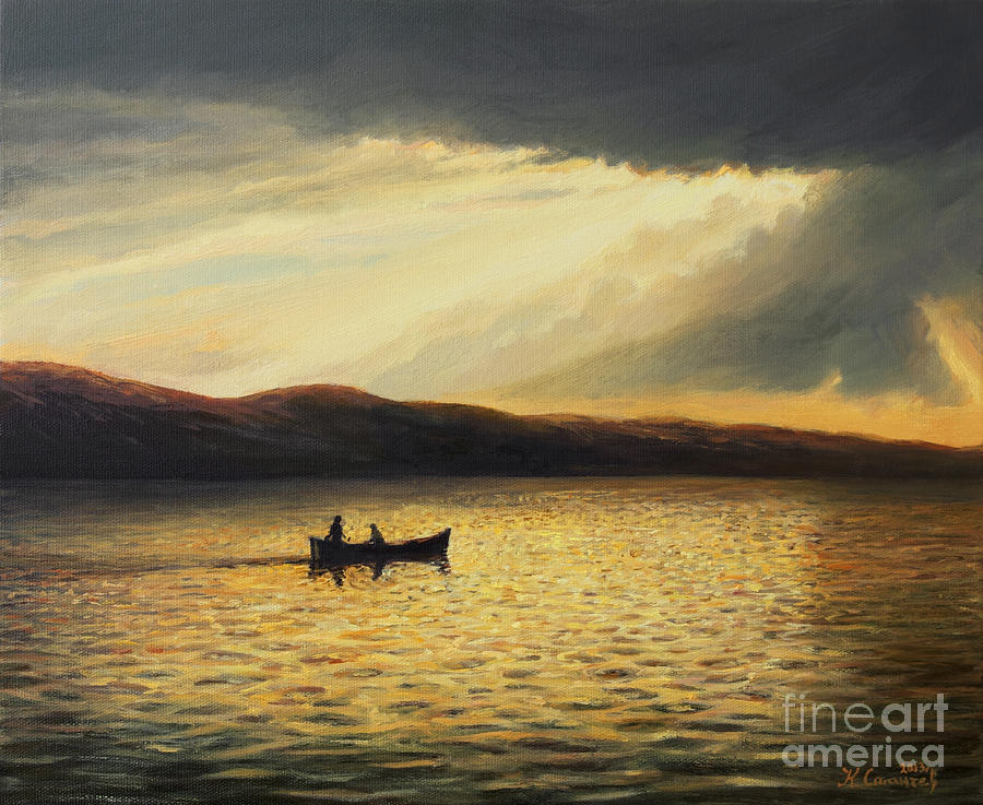 Nature Painting - The Bay Of Silence by Kiril Stanchev