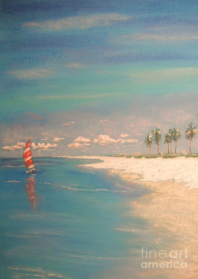 Tropical Painting - The Bay by The Beach  Dreamer