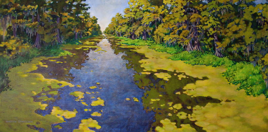 Bayou Painting - The Bayou by Andrew Danielsen