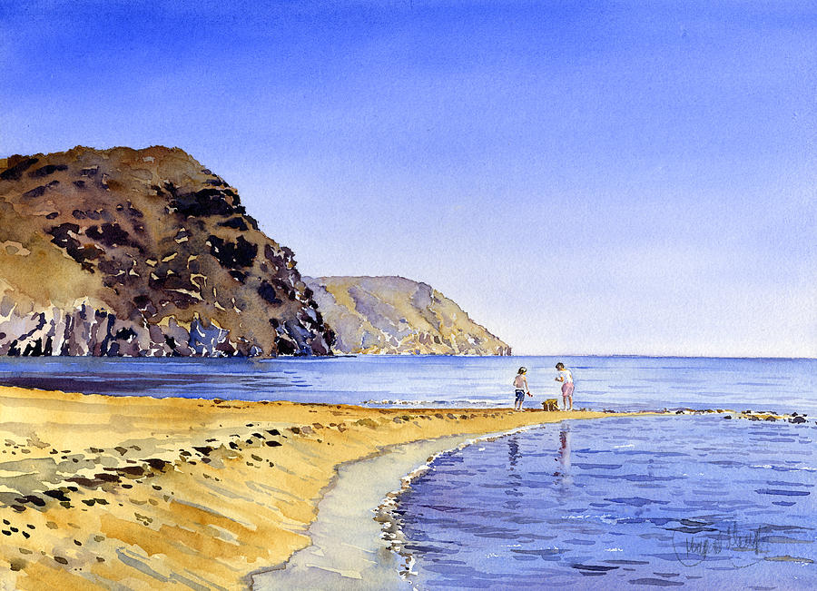 Watercolor Painting - The Beach At Las Negras by Margaret Merry