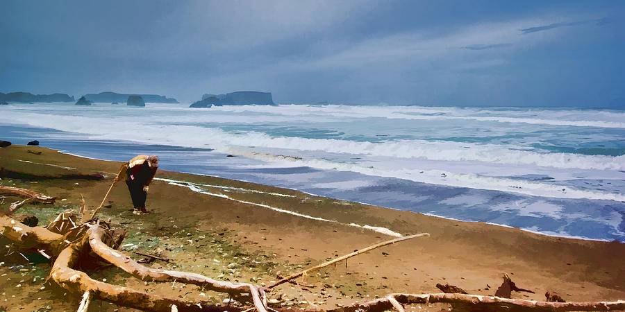 Pacific Ocean Photograph - The Beach Comber by Dale Stillman