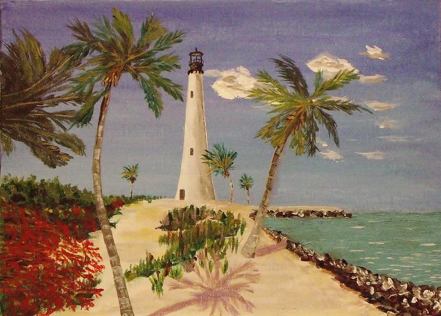 Lighthouse Painting - The Beacon Lives by Mike Caitham