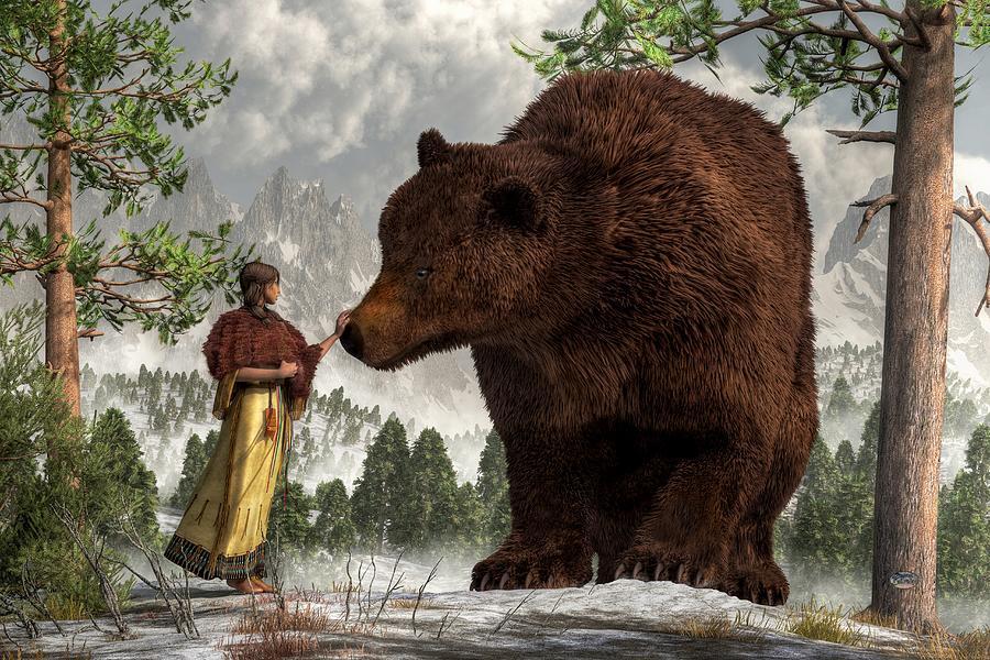 Bear Woman Digital Art - The Bear Woman by Daniel Eskridge