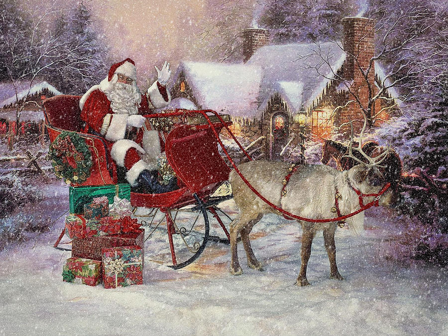 Christmas Photograph - The Beard Of His Chin Was As White As The Snow .... by Bob Kramer