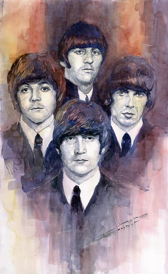 Watercolor Painting - The Beatles 02 by Yuriy Shevchuk