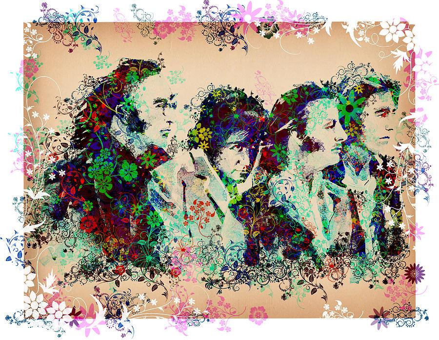 Beatles Painting - The Beatles 10 by Bekim Art