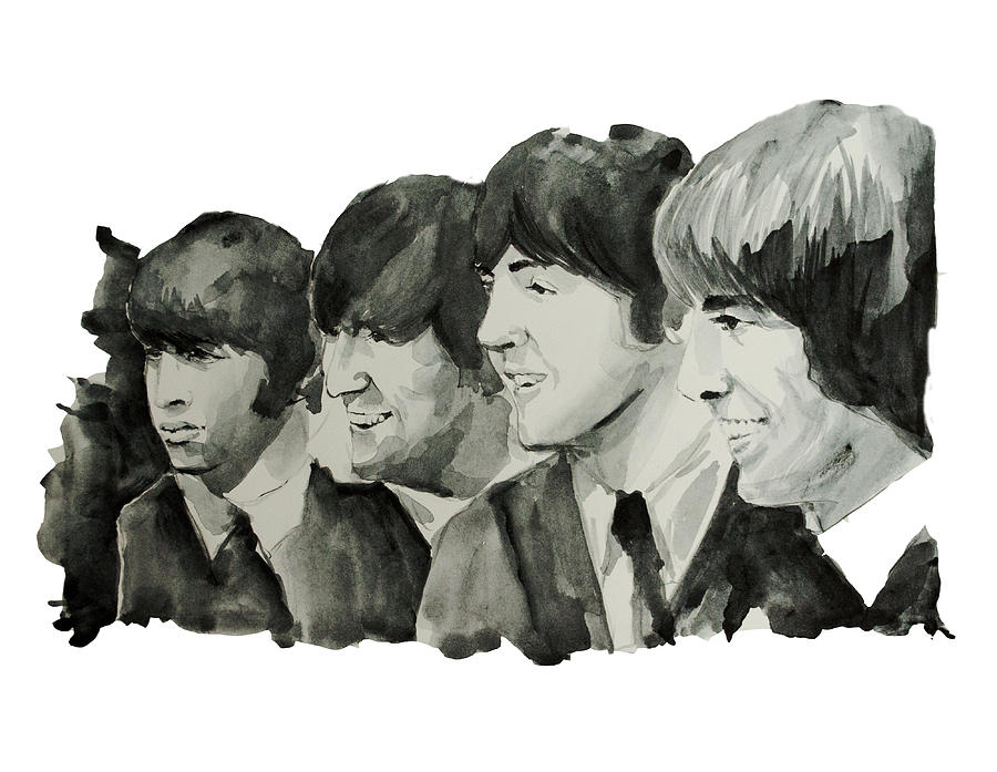 The Beatles Painting - The Beatles 2 by Bekim Art