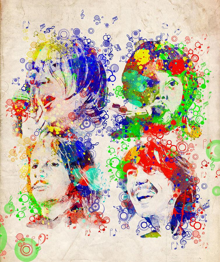 Beatles Painting - The Beatles 5 by Bekim M