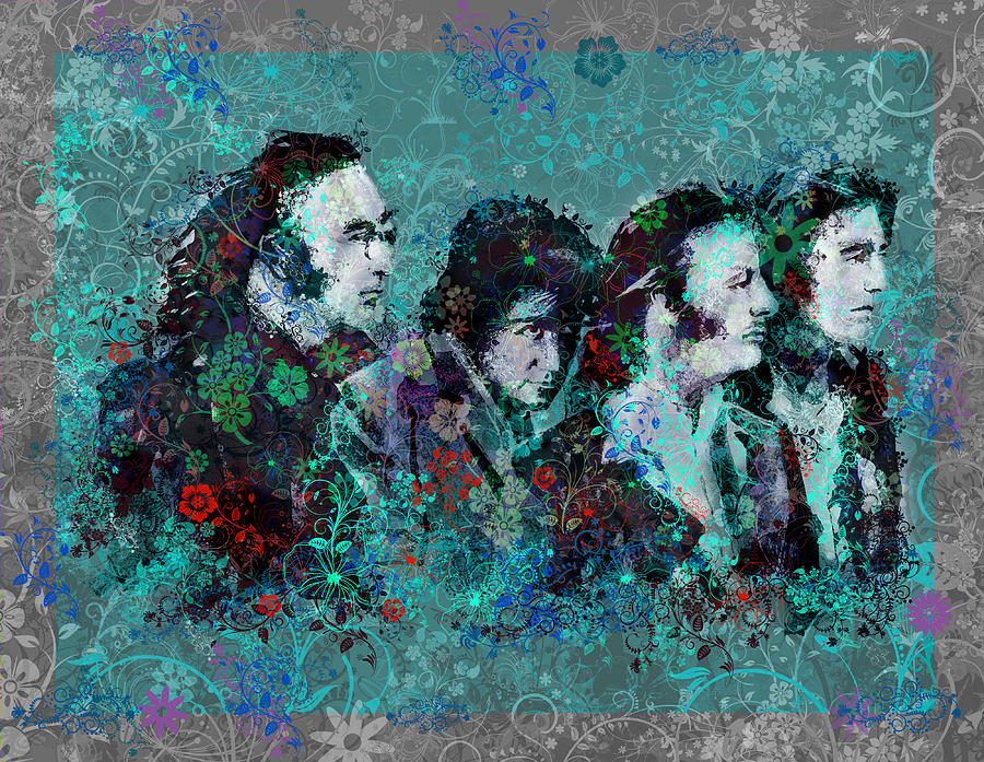 Beatles Painting - The Beatles 9 by Bekim Art