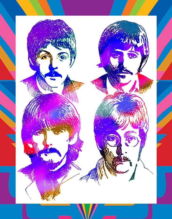 The Beatles Art Painting by Robert Korhonen