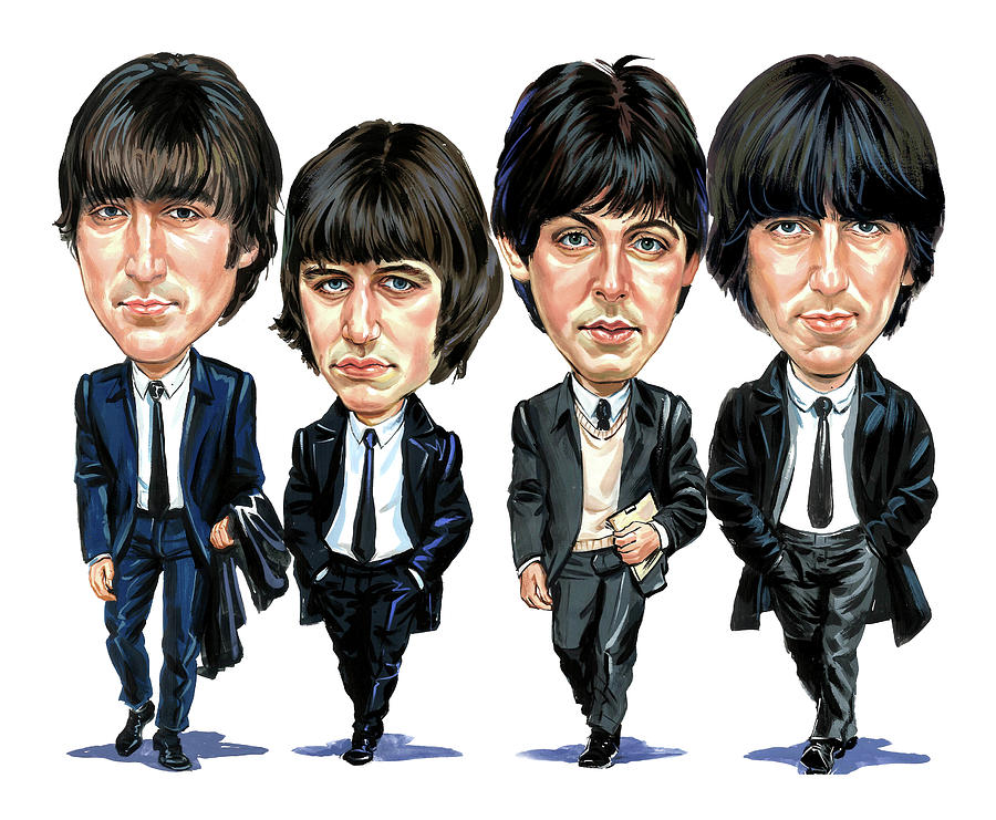 The Beatles Painting - The Beatles by Art
