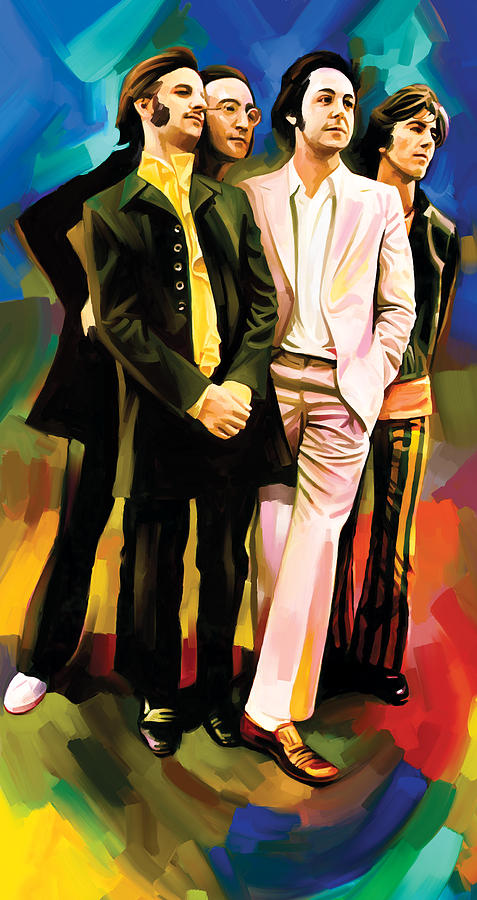Rock Music Paintings Painting - The Beatles Artwork 3 by Sheraz A