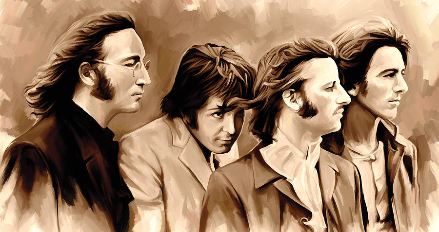 The Beatles Artwork 4 Painting by Sheraz A