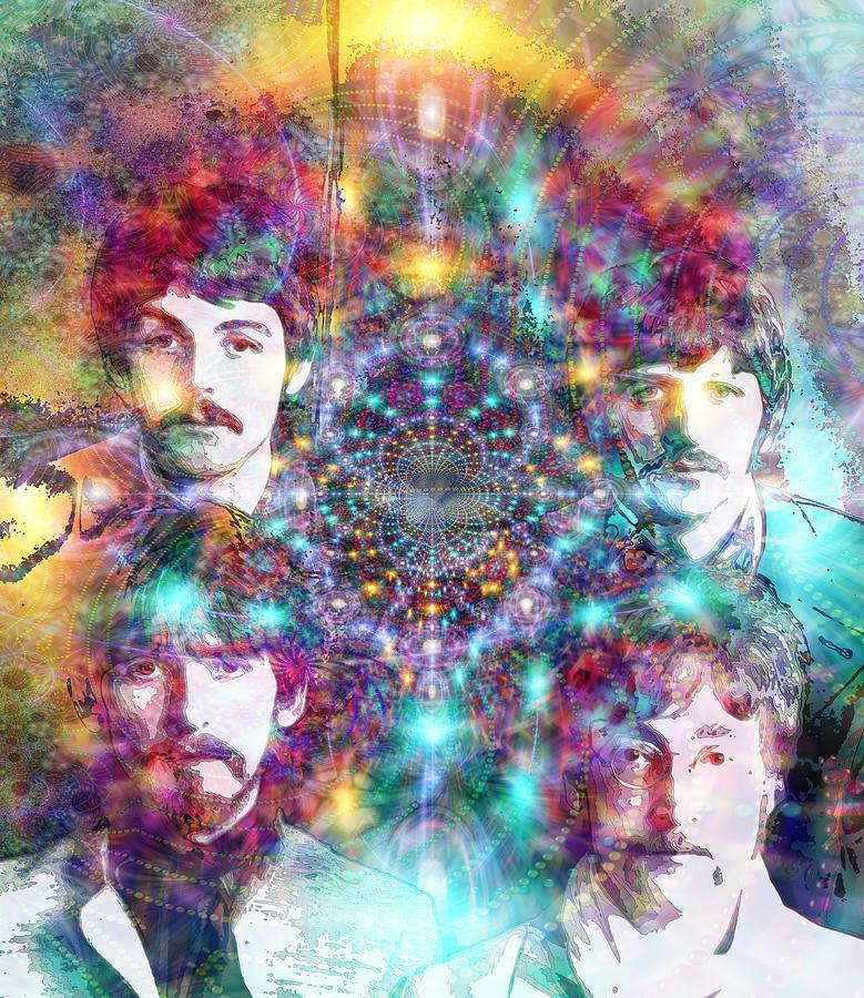 The Beatles Digital Art - The Beatles by D Walton