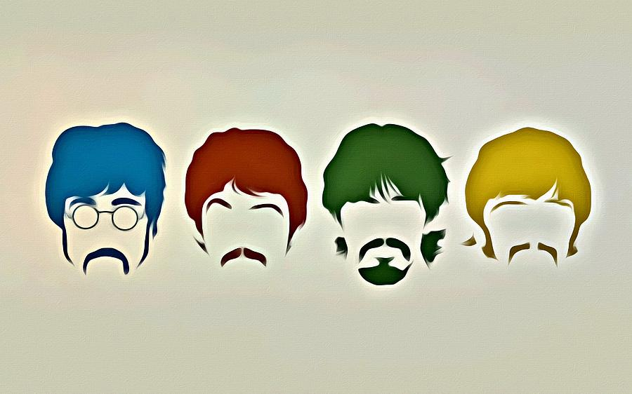 Music Painting - The Beatles by Florian Rodarte