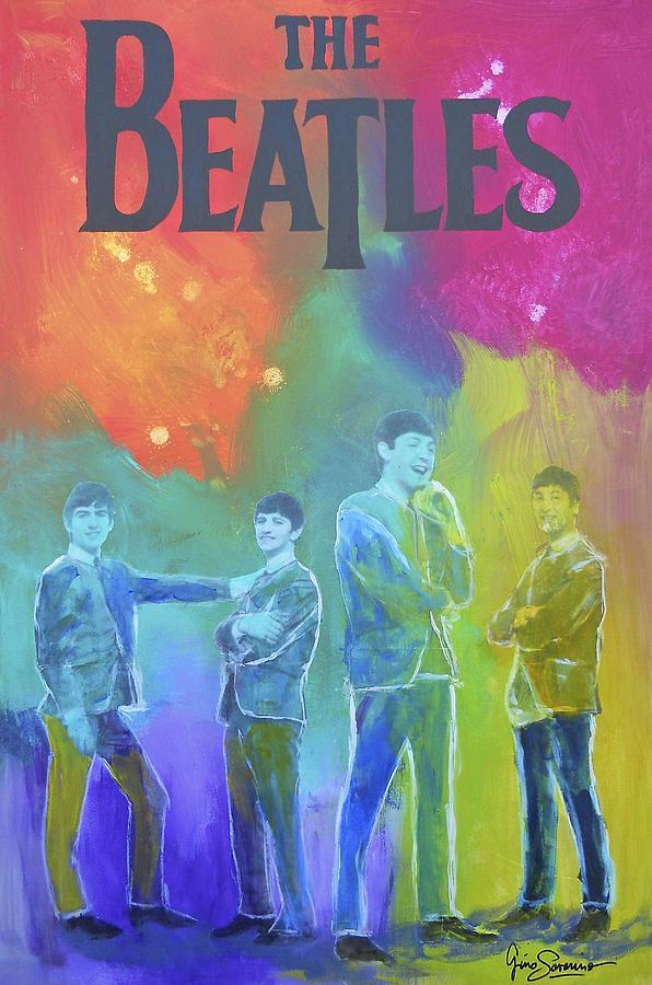 The Beatles Painting - The Beatles by Gino Savarino